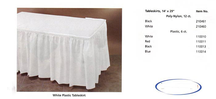 Linen-Like Table Skirts