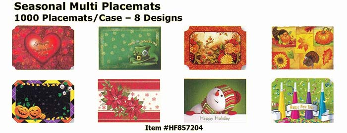 Seasonal Multi Placemats