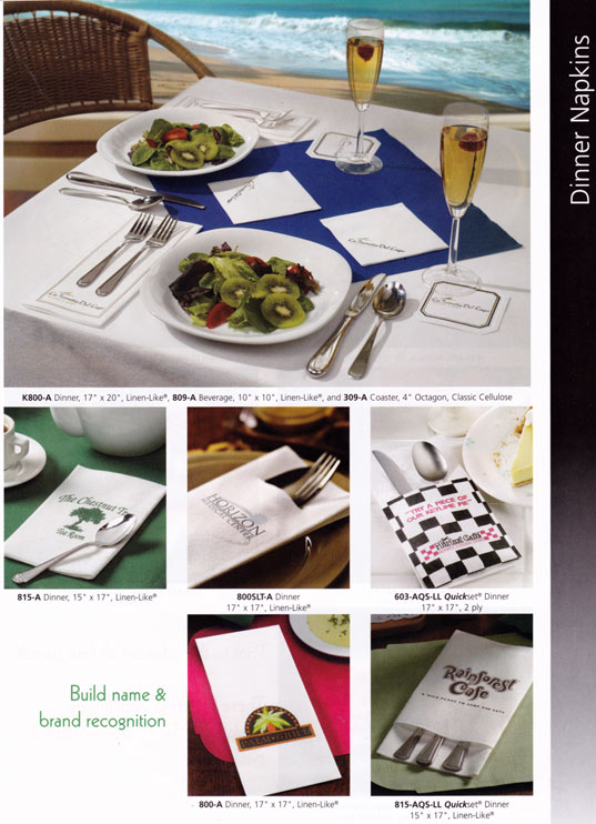 Custom paper services placemats canada