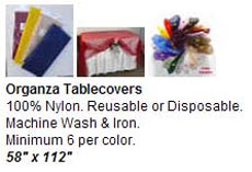 Organza Tablecovers