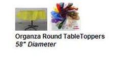 Organza Round Table Toppers